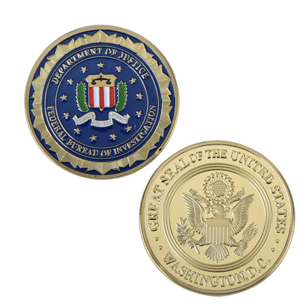Partihandel Novelty Colorful Pure Gold Plated Mynt av US Department - Heminredning - Foto 4