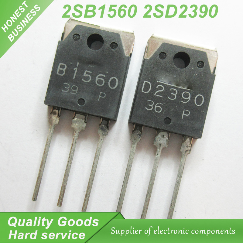 20PCS 2SB1560 B1560 2SD2390 D2390 TO-3P Sound matching tube (10PCS* B1560 +10PCS* D2390 ) new original image