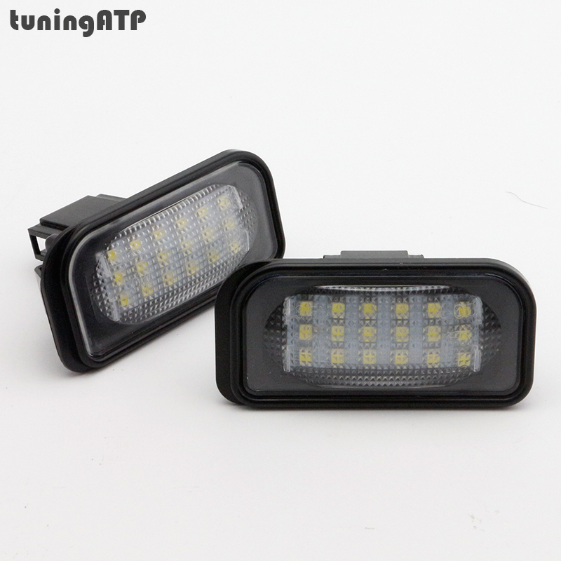 2x 18-SMD LED License Plate Lights for Mercedes Benz C-Class W203 Sedan SL-Class R230 CLK-Class W209 C209 A209 plywood