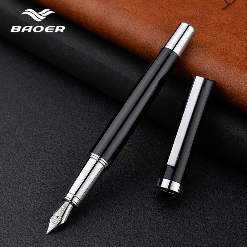 Baoer Fountain Pen Ink Pens Luxury Calligraphy Pen Dolma Kalem Office Stationery Tinta Caneta Tinteiro Fuliwen Fountain Pen Gift