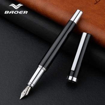 Baoer Fountain Pen Ink Pens Luxury Calligraphy Dolma Kalem Office Stationery tinta caneta tinteiro fuliwen fountain pen gift - discount item  5% OFF Pens, Pencils & Writing Supplies