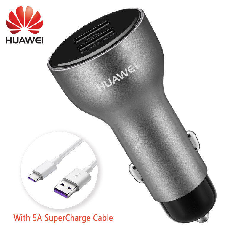 Huawei Car Supercharge Original Fast Quick Charger Mate 9 10 20 X P10 Plus P30 20 Pro Type C Type-c Cable Honor 8 V9 V10 View 10