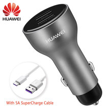 Huawei 社の車の過給オリジナル高速クイック充電器メイト 9 10 20 × P10 プラス P30 20 プロタイプ C タイプケーブル名誉 8 V9 V10 ビュー 10