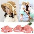 Новое поступление ручной работы девушки летние шляпы пляж шляпы для девочки родитель-ребенок вс шапки летние шапки для девочек и женщин бесплатно доставка