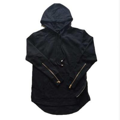 aeedb0f94f5 2016 New Hi-street Mens Hooded Hip Hop Sweatshirts With Side Zipperfashion  Long Sleeves Extended Hoodie Men Street Clothing US  36.70