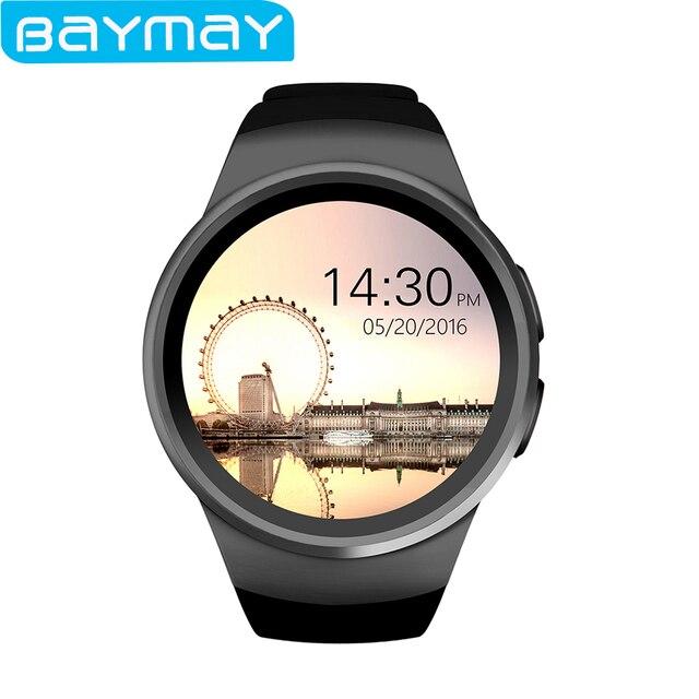 2017 New KW18 Smart Watch Digital smartwatch Bluetooth Reloj Inteligente SIM Round Heart Rate Monitor Clock Full IPS Screen