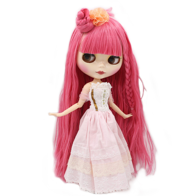 Factory Neo Blythe Doll Pink Hair Jointed Body 30cm
