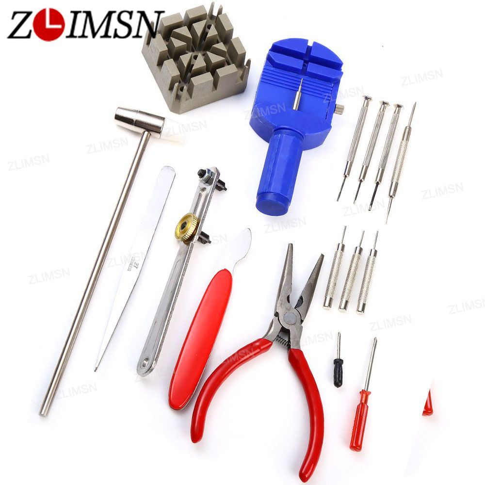 Prix pour Zlimsn un ensemble table de réparation tool set outils de réparation et kits 16 Dans 1 Outil D'ouvreur-Horloge Montre Kit De Réparation Maquillage Produits Ouvre TL0001