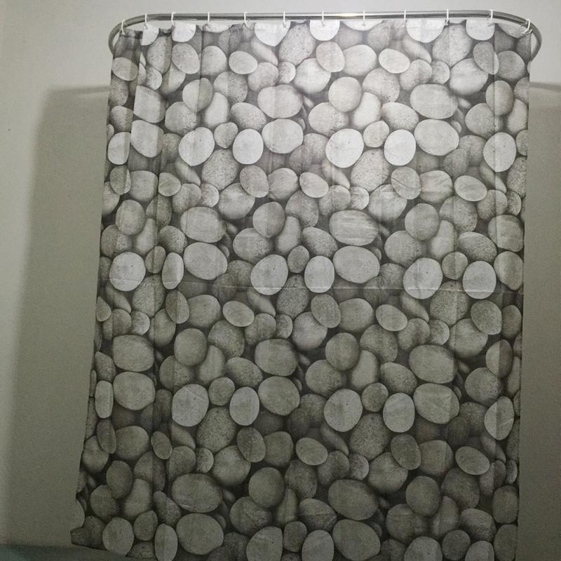 Kiesel-Muster-Familien-Badezimmer-Duschvorhang-einfacher Ring-Zug des - Haushaltswaren - Foto 2