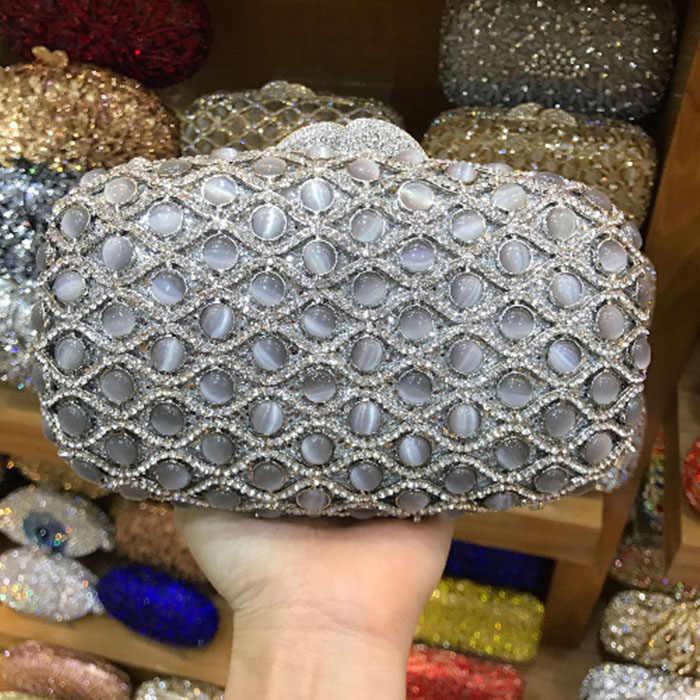 Женская вечерняя сумочка золотого и серебряного цвета, ручная Сумочка с кристаллами, женские клатчи на день, Свадебный клатч для вечеринок, подарок для женщин