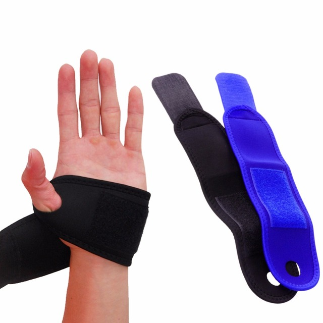 911cb072e8 Sports top Polyester Wrist Guard Band Brace Support Gym Strap Magnetic  Carpal Tunnel Sprains Strain Protection 1PC Wrist Band