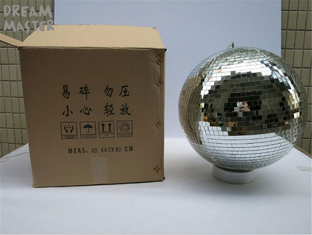 "Image 3 - D40cm*40cm 15.7""inches large mirror balls for lights/rotating disco ball with free electric motor for DJ lights Wedding Eevent-in Novelty Lighting from Lights & Lighting"