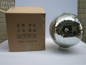 "Image 3 - D40cm * 40cm 15.7 ""סנטימטרים גדול מראה כדורי עבור אורות/מסתובב דיסקו כדור עם משלוח חשמלי מנוע עבור DJ אורות חתונה Eevent"