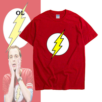 Mode Tee Le Big Bang Theory Sheldon Cooper le flash à Manches courtes T-shirt 100% Coton T-shirts De Haute Qualité TBBT T-Shirt