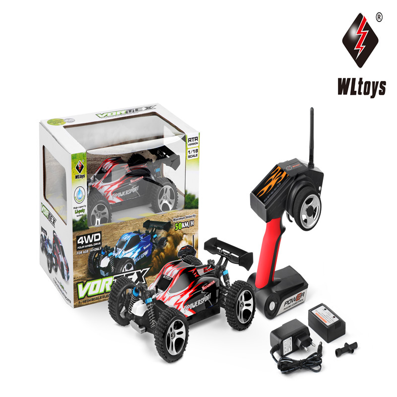 WLtoys A959 2.4G 1/18 Scale 4WD Vortex RC Car Off-Road Buggy RTR Radio Electric Retome Control Car Mini Model For Children Gifts hsp rc car 1 10 electric power remote control car 94601pro 4wd off road short course truck rtr similar redcat himoto racing