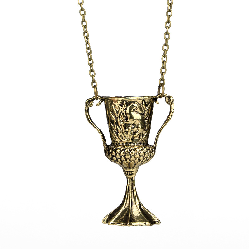 Hufflepuff's goblet Necklace 7 Seven Horcruxes Wizard World Harri Potter Gift Fans Party Kids Students
