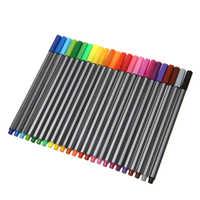 24 Colors Fineliner Pens Set 0.4mm Plastic Fineliner Pens Color Fineliners Set Art Painting Markers Pen 250X200mm