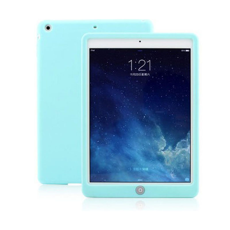 Arvin Silicone Case For iPad 9.7 2017 Drop Resistance Rugged ShockProof Soft Bumper Cover For 2017 iPad 9.7 Tablet A1822 A1823 image