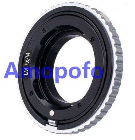 AMOPOFO pour objectif Leica M L/M vers Fujifilm X-Pro1 adaptateur de montage E1 FX adaptateur de mise au point hélicoïdal LM-FX/M