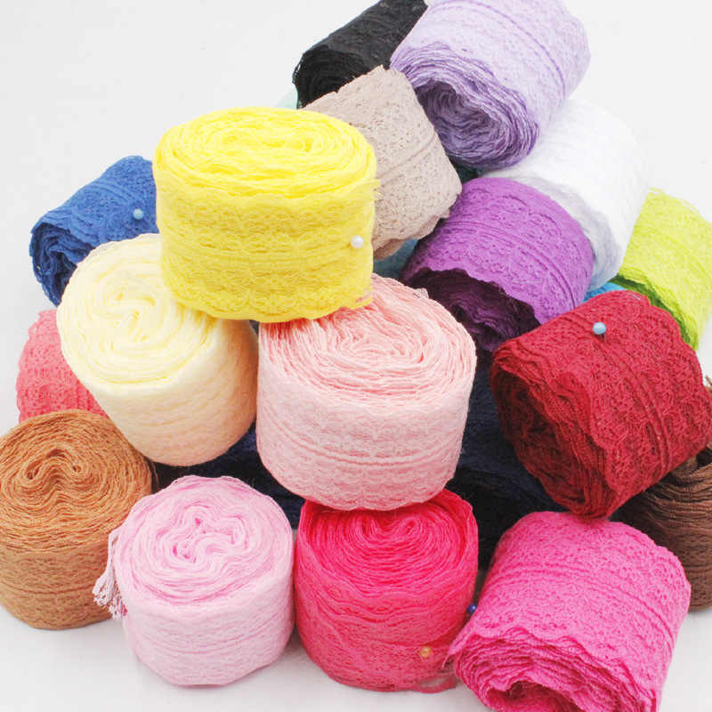 45mm Lace Ribbons DIY Apparel Sewing & Fabric Lace Trimming Colorful Lace Tape