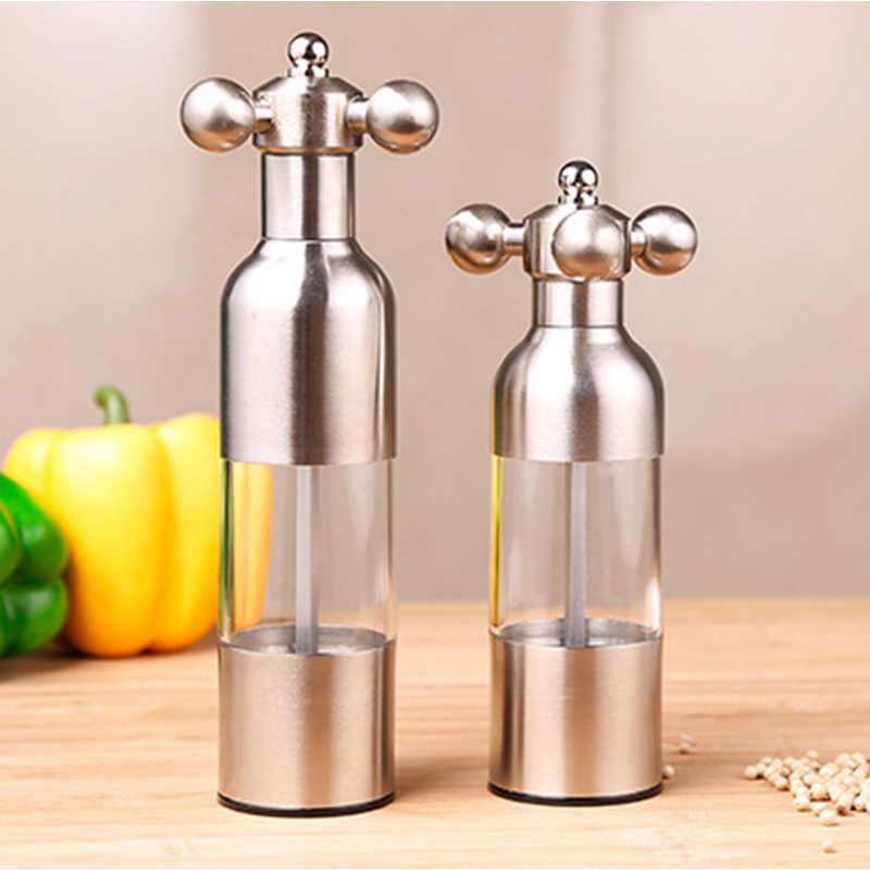 1 Uds., utensilios creativos de cocina, molinillo de pimienta y sal, molinillo de molino para pimienta negra, molinillo de especias para ajo