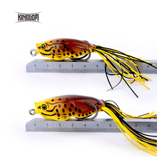 Kingdom Soft Plastic Fishing lures Frog lure 55mm 11g,50mm 8g With Hook Top Water  model lwy43 lwy44