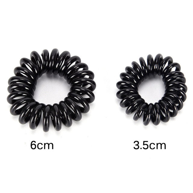 10 Pcs S M Telephone Hairbands Hair Scrunchie Transparent Telephone Wire Elastic Hairbands For Children