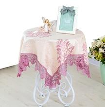 YO HOOM European Table Cloth Pastoral Coffee Small Round Tablecloth Rectangular Lace Multi-purpose