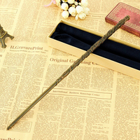 2018 Metal Core Harry Potter Magical Wand Newest Quality Deluxe COS Hermione Granger Magic Wands/Stick with Gift Box Packing