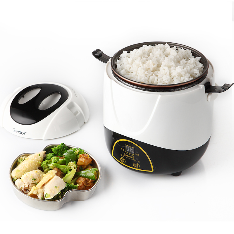 kitchen Intelligent Reservation Mini Rice Cooker Small 1-2 People Timing Rice Cooker Student Dorm Room Low Power Cooking Pot cukyi multi functional programmable pressure cooker rice cooker pressure slow cooking pot cooker 4 quart 900w stainless steel