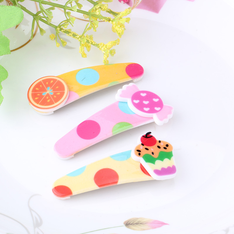 M MISM New Kids Hairpins Cute BB Folder Colorful Candy Fruit Hairgrips Headwear Girls Barrette Princess Best Gift Hair Clip m mism girl cute hairball hairpins lovely colorful hairgrips kids accessories new arrival hair clips headwear best gift to kids