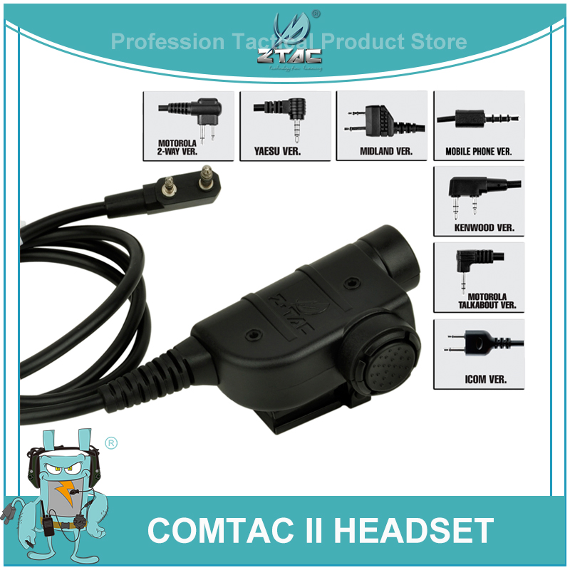 Z-tac Tactical Midland Push To Talk For Baofeng ZSilynx Releases Chest PTT Kenwood Peltor Softair Radio Headset Accessories Z125
