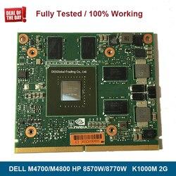 Tarjeta gráfica Original K1000M K1000 de 2GB para ordenador portátil HP 8570W 8770W Dell M4700 M4800 N14P-Q1-A2 CN-0KKVMC 0KKVMC totalmente probada
