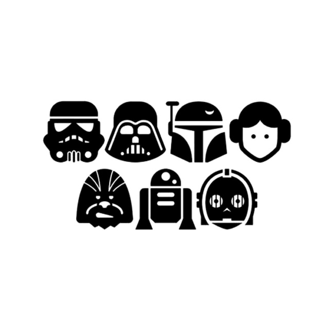 aliexpress com buy 19cm 9 8cm star wars characters personality car