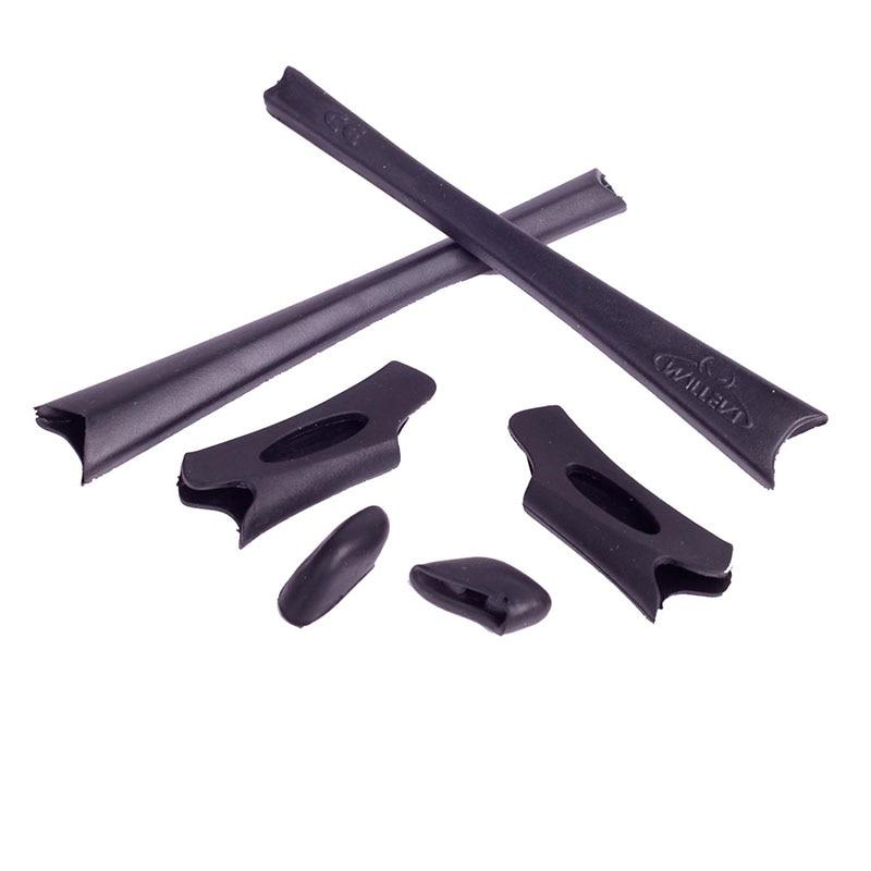 Walleva Caoutchouc Kit Pour Oakley Flak Veste/XLJ lunettes de Soleil 8 couleurs disponibles