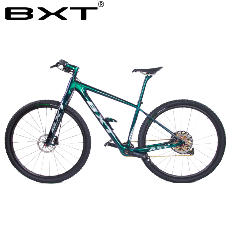 BXT MTB Carbon Bike Boost 148/142mm  29-inch  11-speed Bicycles Disc Brakes Variable Speed Racing Bicycle MTB Bike Gold Chaining