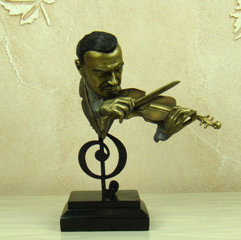 Abstract Violin Player Bust Musical Resin Statue 1
