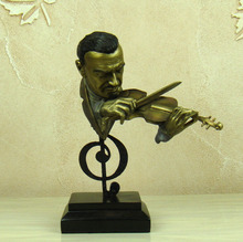 Abstract Violin Player Bust Musical Resin Fiddler Figure Statue Decor Gif and Craft Souvenir Ornament Accessories Furnishing