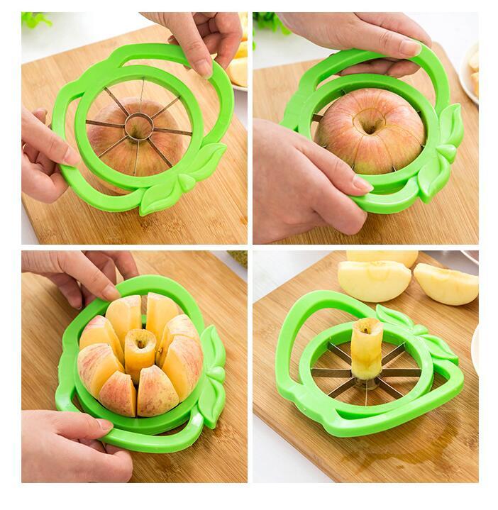 1pc Delidge Apple Cutter Plastic +Stainless Steel Fruit Slicer Multi-function Stainless Steel Shredders Slicers Apple Device