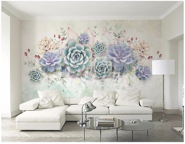 Custom Photo Art Wallpaper 3D FLower Designs TV Background/living Room/  Hotel Decoration/ Part 85