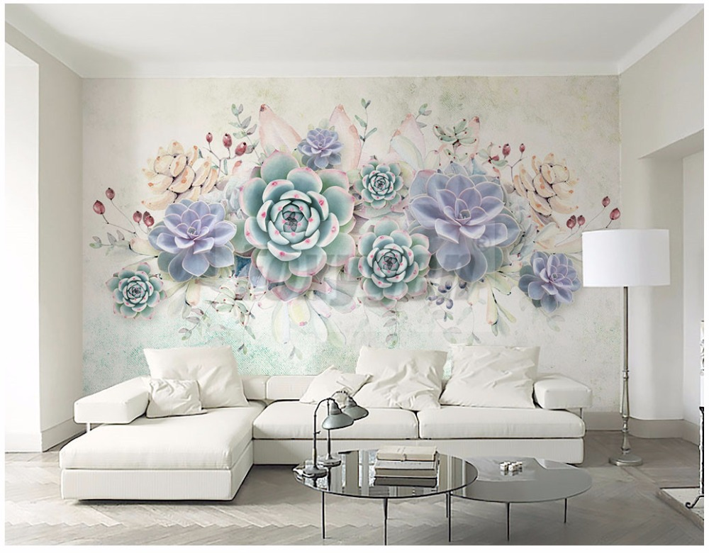Custom photo Art wallpaper 3D FLower Designs TV background/living room/ hotel decoration/shopping center 3d mural wall paper