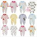 2016 Novos Do Bebê Roupas de Menina de Algodão Macio Verme Crianças One Pieces Macacões Pijamas Bebes Recém-nascidos Meninos Roupas Infantis Trajes Do Bebê