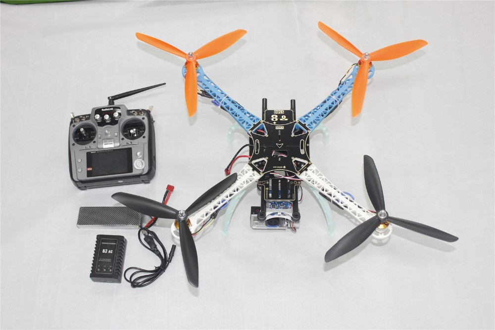 DIY Drone Upgrade Full Kit S500-PCB 3-Blades Propellers 4-Axis Multi QuadCopter UFO with 2-Axis Camera Gimbal AT10 Transmitter for yuneec typhoon h 480 drone a self locking propellers blades 3 pcs black