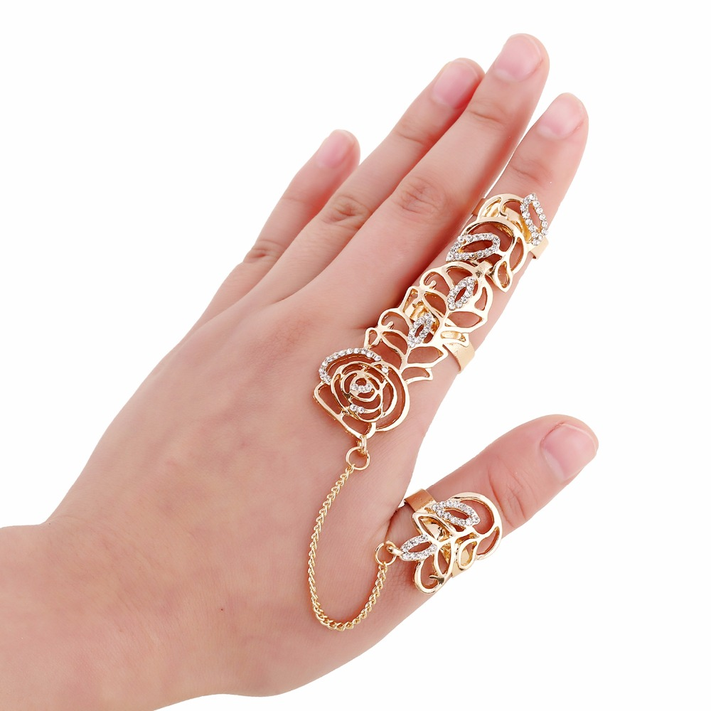 Fashion Gold Rings Women Anillos Austrian Crystal Gold Color Party ...