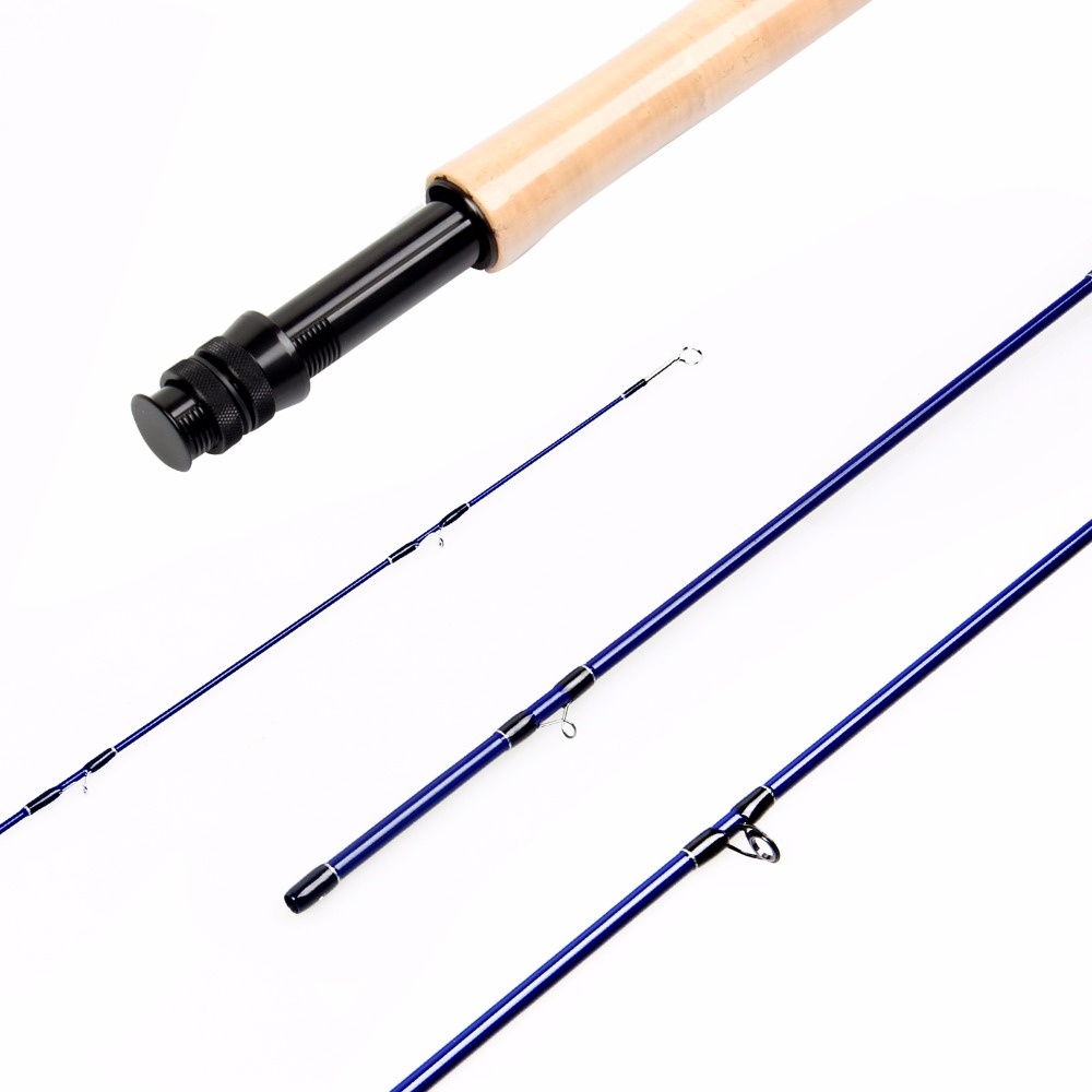 2018 New Arrival Great Carbon Fiber Fly Rod ,3WT 5WT Access Medium-Fast Action Fly Fishing Rod With Plastic Rod Tube