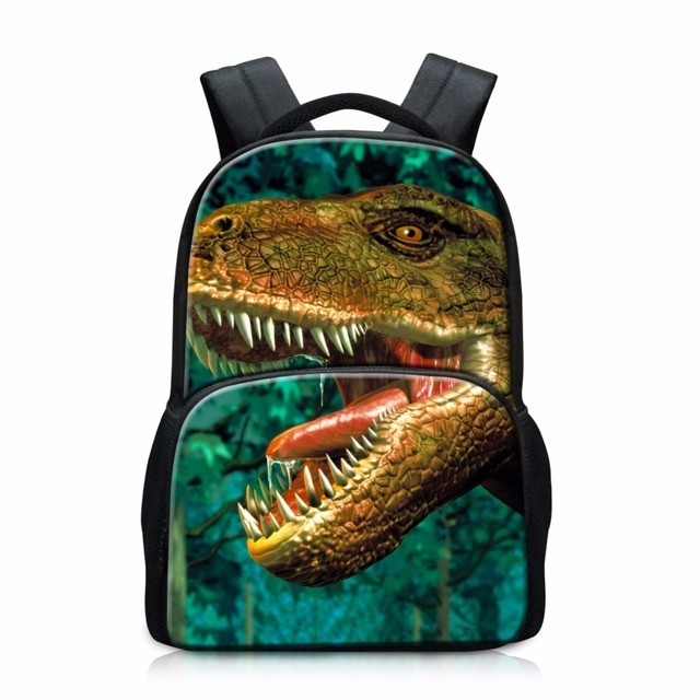 209095537a6c Dinosaur Backpacks for Elementary Students Cool Tiger Bookbags Wolf Mochilas  for College Large School Bags for