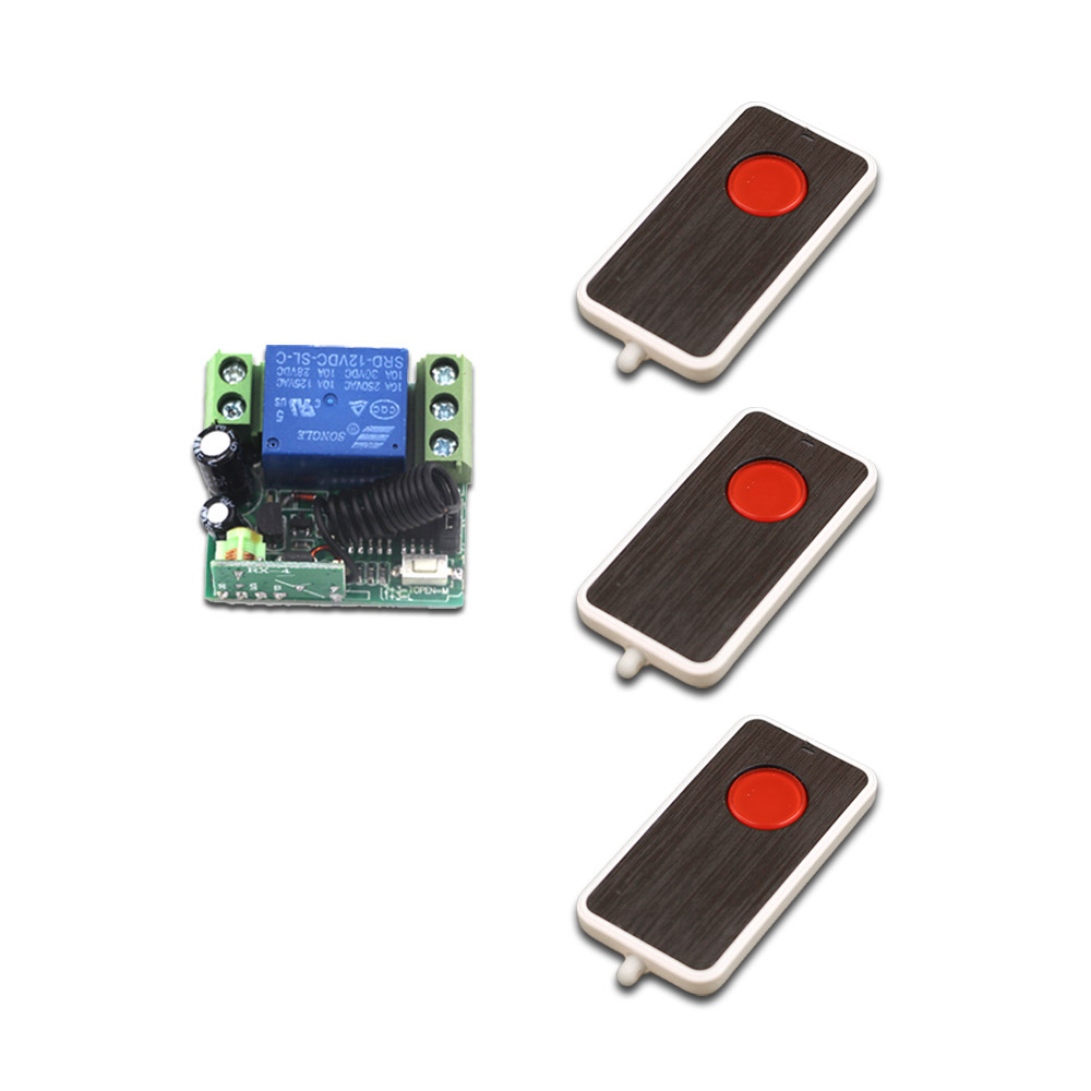 DC 12V 10A Wireless RF Remote Control Switch System Wireless Mini Relay Receiver Remote Controller Switch 315/433MHz купить