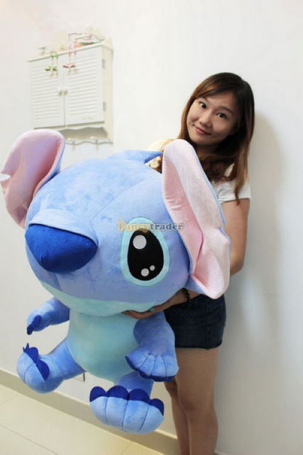 Fancytrader Cute High Quality Top Sales 35'' / 90cm Huge Cute Giant Plush Stuffed Stitch Birthday Gift! Free Shipping FT90124