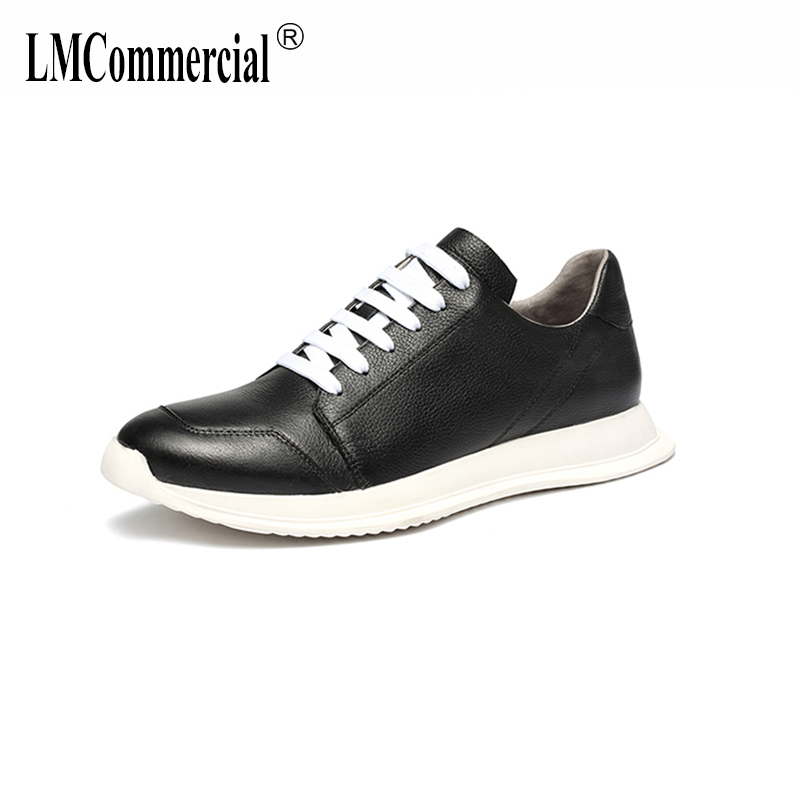 men's summer shoes Genuine Leather 2018 new men shoes all-match cowhide breathable sneaker fashion casual shoes spring autumn m genreal 2017 new women white shoes all match summer breathable leather shoes vulcanized casual shoes candy color lace 35 39
