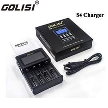 GOLISI S4 2.0A интеллектуальное ЖК-зарядное устройство для Li-Ion Ni-MH Ni-Cd Ni-md 26650 18650 20700 21700 AA AAA аккумуляторная батарея